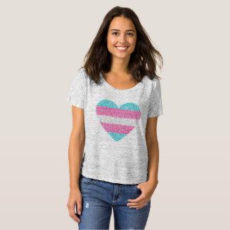 Pièce en t de COEUR de MOSAÏQUE de TRANSSEXUEL T-shirt