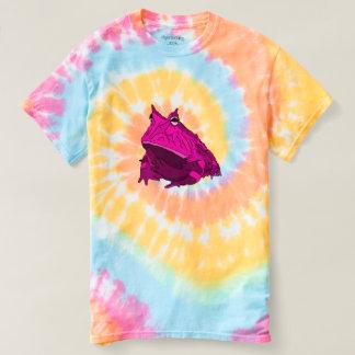 Pièce en t de colorant de cravate de grenouille t-shirt