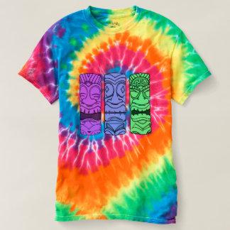 Pièce en t de colorant de cravate de tête de Tiki T-shirt