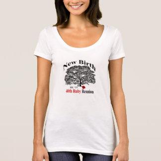 Pièce en t de cou de scoop de dames t-shirt