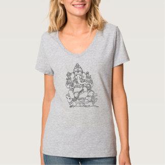 Pièce en t de dames de Ganesh T-shirt