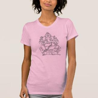 Pièce en t de dames de Ganesh T-shirts