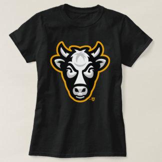 Pièce en t de dames de vache au Wisconsin (noir) T-shirt