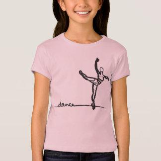 Pièce en t de danse de ballet (enfants) t-shirt