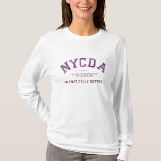 Pièce en t de douille de femmes de NYCDA longue T-shirt