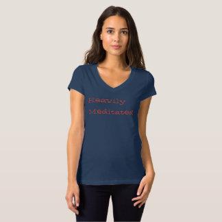 Pièce en t de douille du casquette des femmes t-shirt