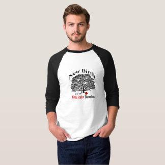 Pièce en t de douille du raglan 3/4 des hommes t-shirt