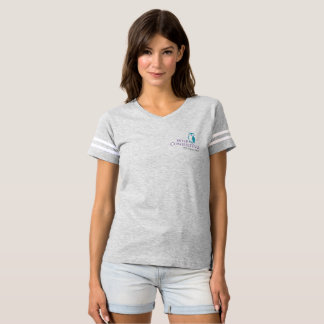 Pièce en t de football des femmes sages t-shirt