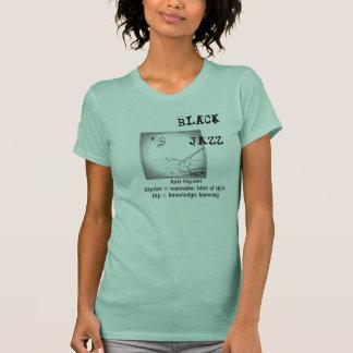 Pièce en t de jazz de noir de couleur de jade t-shirt
