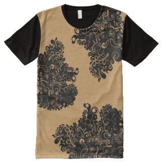 Pièce en t de la mode du type à la mode moderne de t-shirt tout imprimé