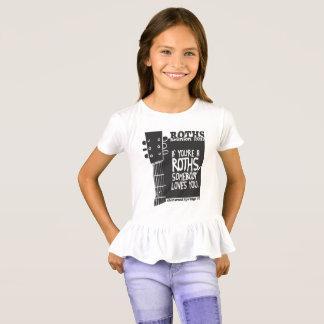 Pièce en t de la ruche de la fille t-shirt