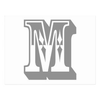 """Pièce en t de lettre des textes d'alphabet de """"M"""" Carte Postale"""