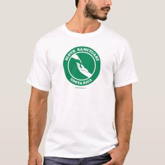 Pièce en t de logo de sanctuaire de paresse t-shirt