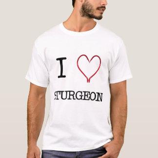 [Pièce en t de muscle de l'esturgeon I de coeur] T-shirt