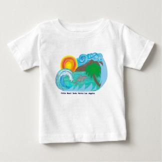 Pièce en t de plage de LA de bébé T-shirt Pour Bébé