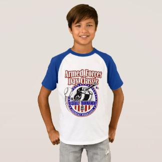 Pièce en t de raglan de la jeunesse t-shirt