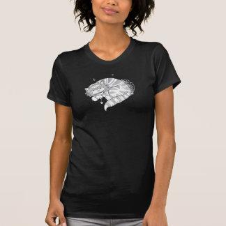 Pièce en t de réservoir de dames de grimace t-shirt