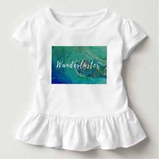 Pièce en t de ruche de wanderluster d'enfant en t-shirt pour les tous petits