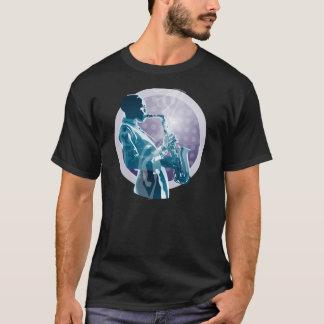 Pièce en t de saxo de jazz t-shirt