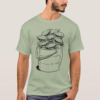 Pièce en t de seau d'huître t-shirt