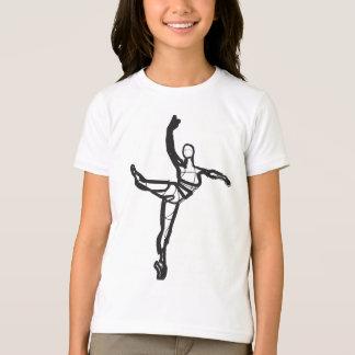 Pièce en t de sonnerie de danse de ballet (filles) t-shirt