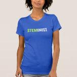 Pièce en t de STEMinist - chaux/texte blanc T-shirts