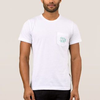 Pièce en t de très bon goût de poche de monogramme t-shirt