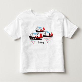 Pièce en t de trois petite enfants de bateaux t-shirt pour les tous petits