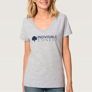 Pièce en t de V-Cou adaptée par gris T-shirt