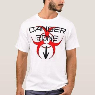 """Pièce en t de """"zone dangereuse"""" de danger de Mikey T-shirt"""