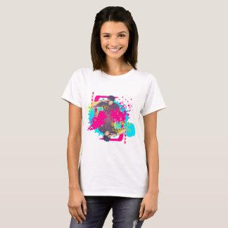 Pièce en t d'éclaboussure de peinture de Qeuyl T-shirt