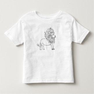 Pièce en t d'enfant en bas âge - lion t-shirt pour les tous petits