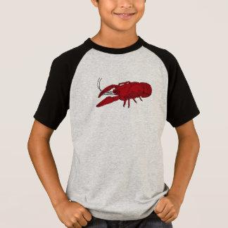 Pièce en t des écrevisses du garçon t-shirt