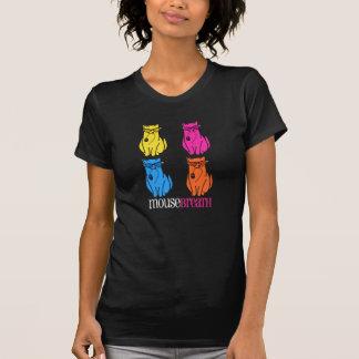 """Pièce en t """"détruite"""" de noir de chats de t-shirt"""