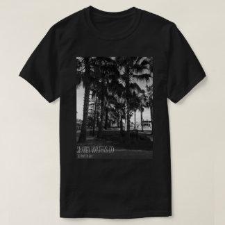 Pièce en t d'image des palmiers B&W de Clearwater T-shirt