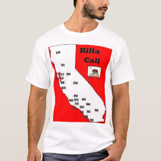 Pièce en t d'indicatifs régionaux de la Californie T-shirt