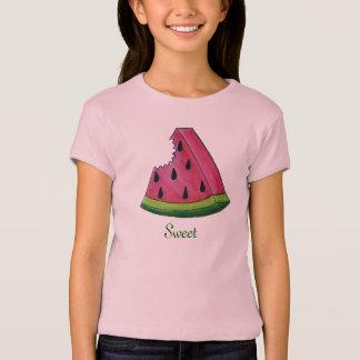 Pièce en t douce rose juteuse de fruit de tranche t-shirt