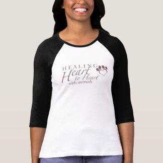 Pièce en t du base-ball des femmes t-shirt