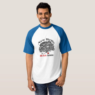 Pièce en t du base-ball des hommes t-shirt
