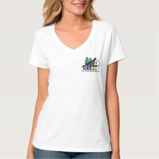 Pièce en t du V-Cou des femmes d'ESUC T-shirt