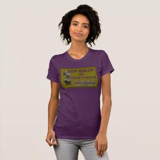 Pièce en t femelle saine de séjour de couleur t-shirts