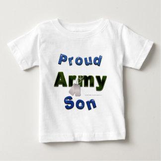 Pièce en t fière d'enfant en bas âge de fils t-shirt pour bébé