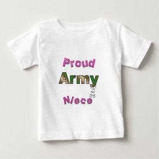 Pièce en t fière d'enfant en bas âge de nièce t-shirt pour bébé
