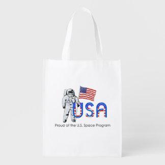 PIÈCE EN T fière du programme spatial des États-Un Sac D'épicerie