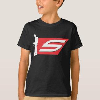 Pièce en t foncée d'enfants de Paintball social T-shirt