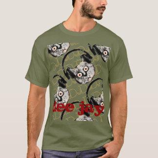 pièce en t fraîche du DJ de chat T-shirt