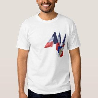 Pièce en t française de drapeau t-shirt