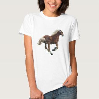 Pièce en t galopante de Cheval-Amant de palomino T-shirts