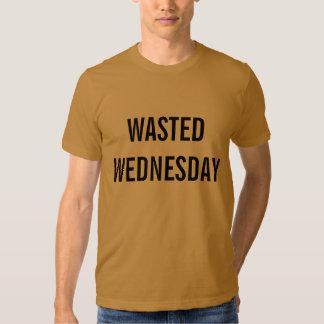 pièce en t gaspillée de mercredi t-shirts