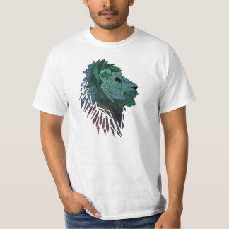 Pièce en t géométrique de lion t-shirt